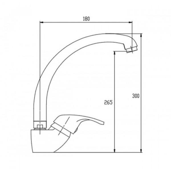 Смеситель для кухни Invena Inis BZ-84-L01