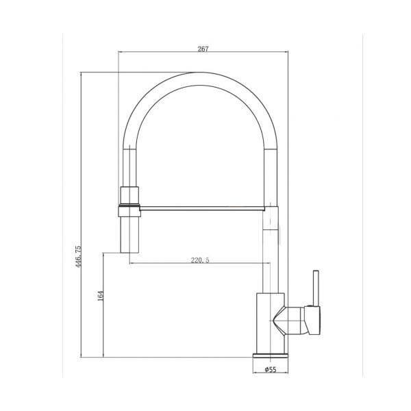 Смеситель для кухни Invena Kameleon BZ-29-L08