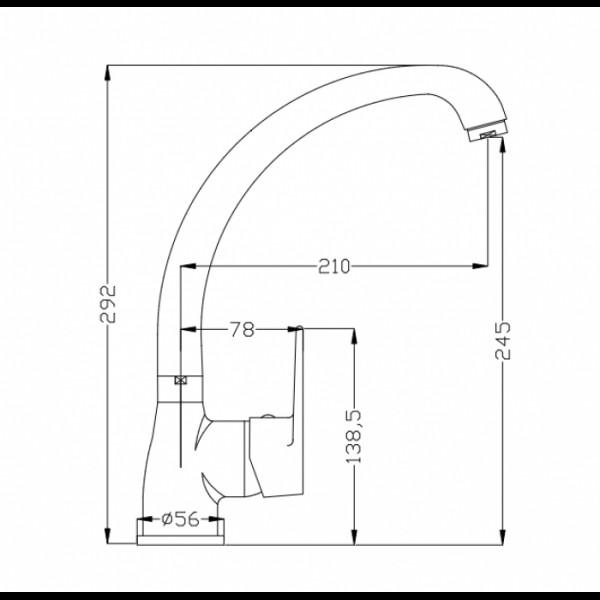 Смеситель для кухни Invena Merida Exe BZ-03-L01