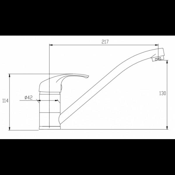 Смеситель для кухни Invena Mitris BZ-79-001