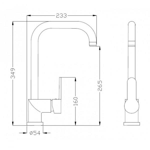 Смеситель для кухни Invena Natea BZ-76-001