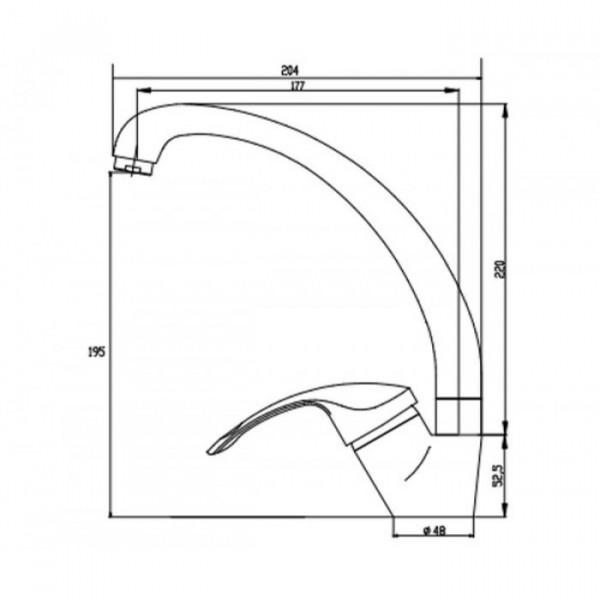 Смеситель для кухни Invena Nea BZ-83-L01