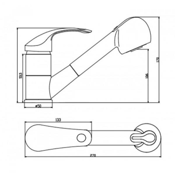 Смеситель для кухни Invena Nea BZ-83-W01