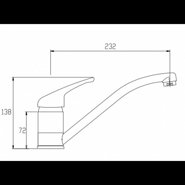 Смеситель для кухни Invena Perea BZ-05-001