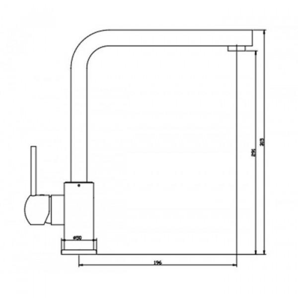 Смеситель для кухни Invena Peroni Exe BZ-93-001