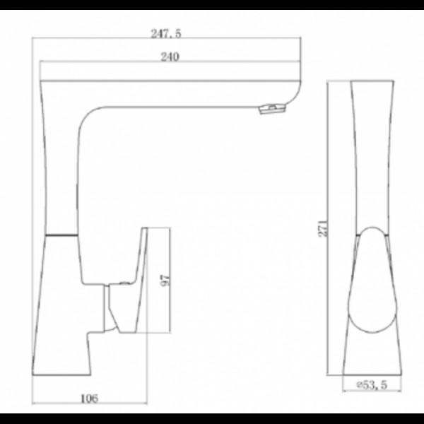 Смеситель для кухни Invena Rotonda BZ-73-L01