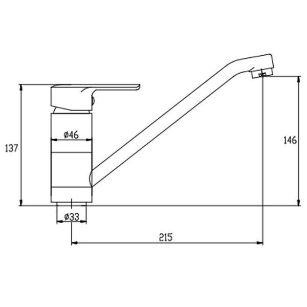 Смеситель для кухни Invena Verso BZ-82-002