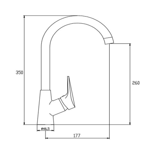 Смеситель для кухни Invena Verso BZ-82-L01