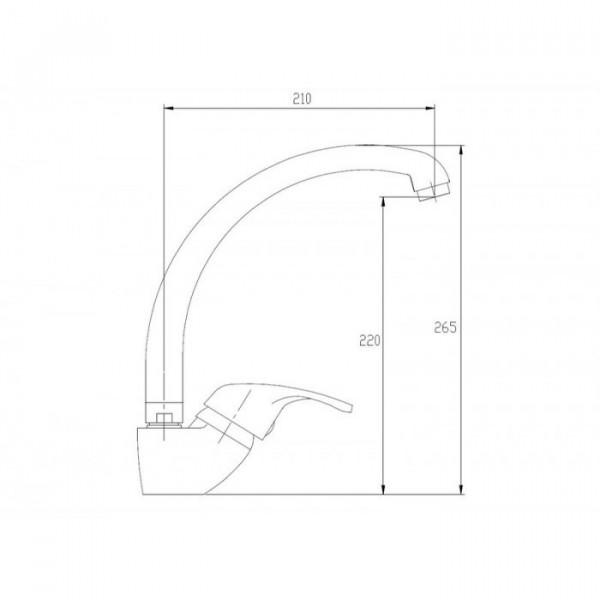 Смеситель для кухни Invena Verso BZ-82-LUX