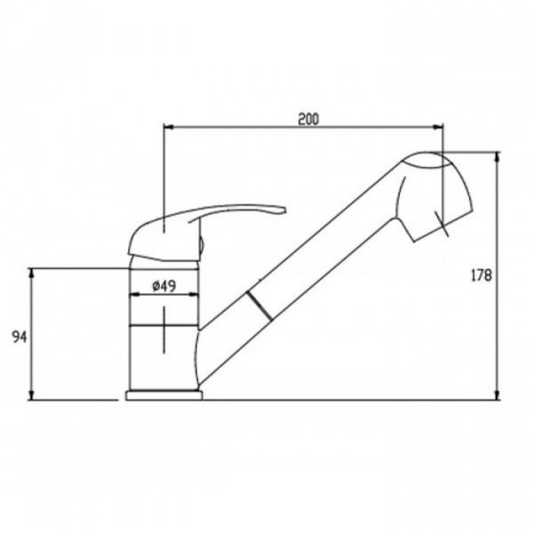 Смеситель для кухни с вытяжным изливом Invena Inis BZ-84-W01