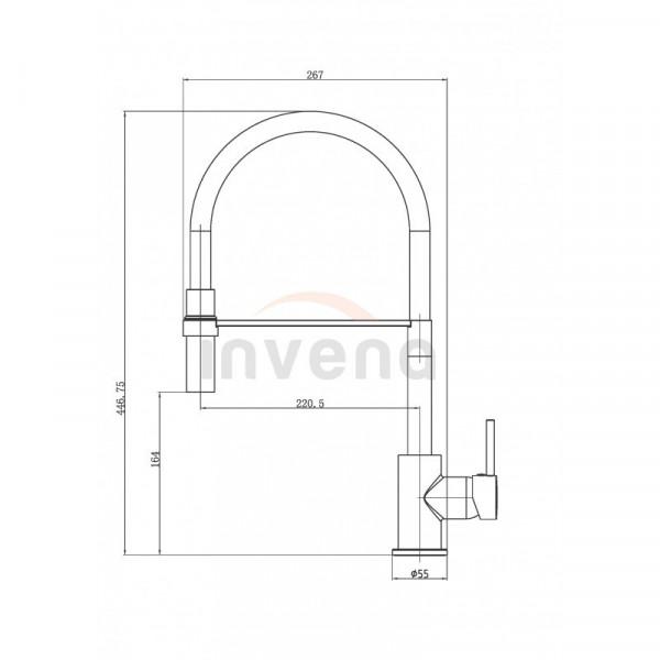 Смеситель для кухонной мойки Invena Kameleon BZ-29-L05