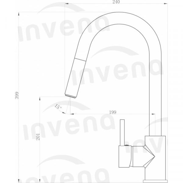 Смеситель для кухонной мойки с вытяжным изливом Invena Elia BZ-89-W01
