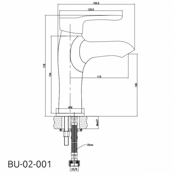 Смеситель для раковины Invena Avila BU-02-001