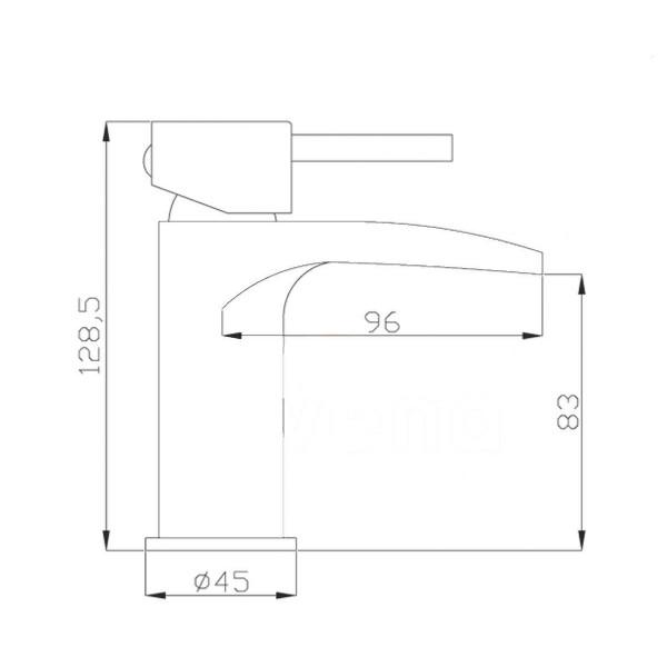 Смеситель для раковины Invena BU-31-001