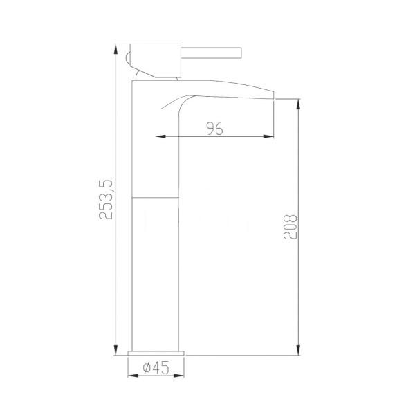 Смеситель для раковины Invena BU-31-W01