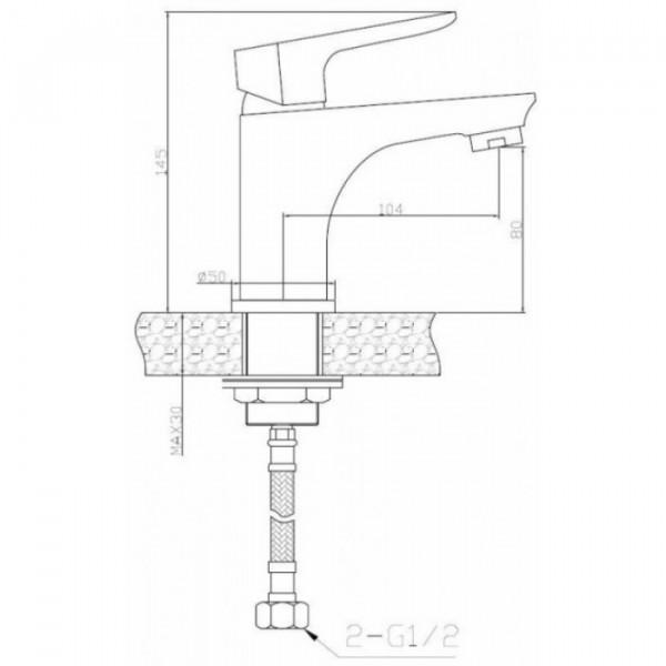 Смеситель для раковины Invena Dokos BU-19-002