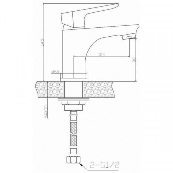 Смеситель для раковины Invena Dokos BU-19-005