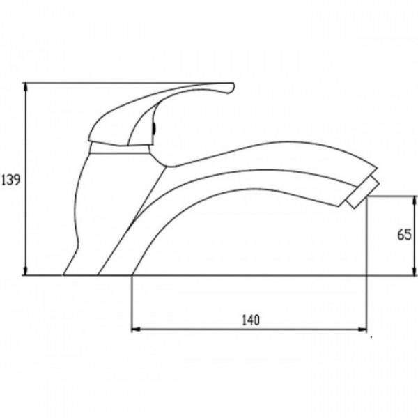 Смеситель для раковины Invena Inis BU-84-001