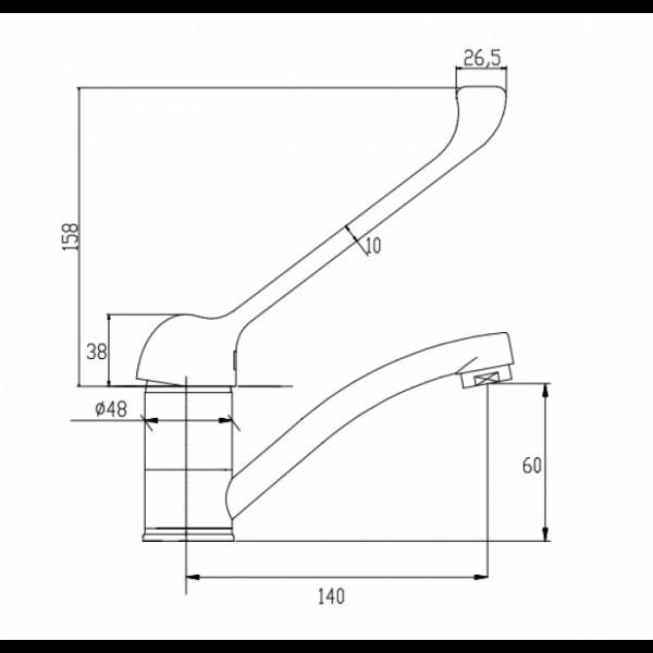 Смеситель для раковины Invena Inis BU-84-KM1