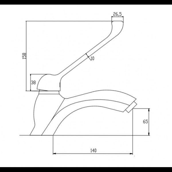 Смеситель для раковины Invena Inis BU-84-M01