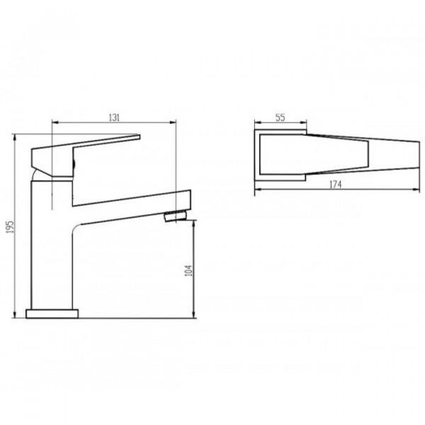 Смеситель для раковины Invena Marmo BU-72-001