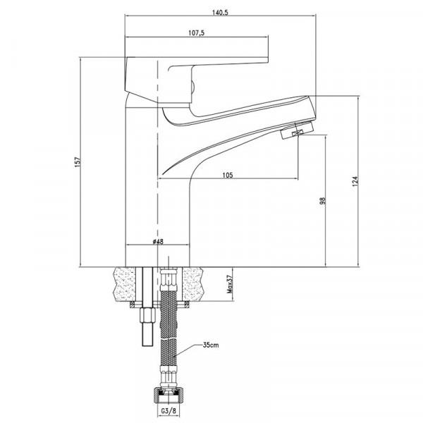 Смеситель для раковины Invena Merida BU-03-001