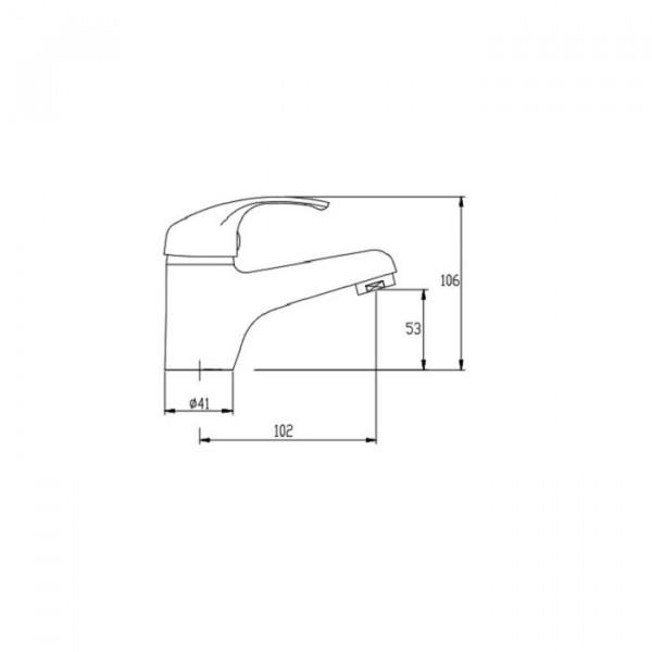 Смеситель для раковины Invena Mitris BU-79-001
