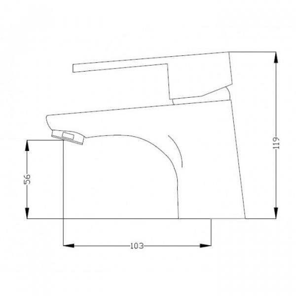 Смеситель для раковины Invena Natea BU-76-001