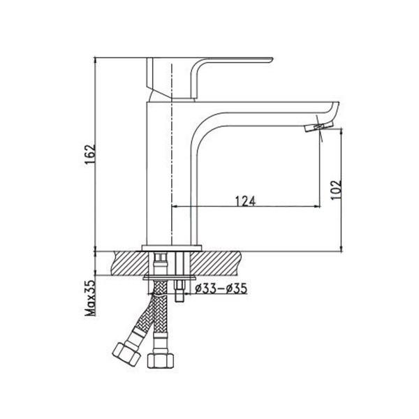 Смеситель для раковины Invena Nyks BU-28-001