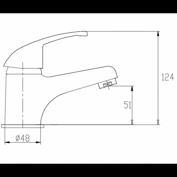 Смеситель для раковины Invena Perea BU-05-001