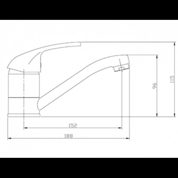 Смеситель для раковины Invena Perea BU-05-K01