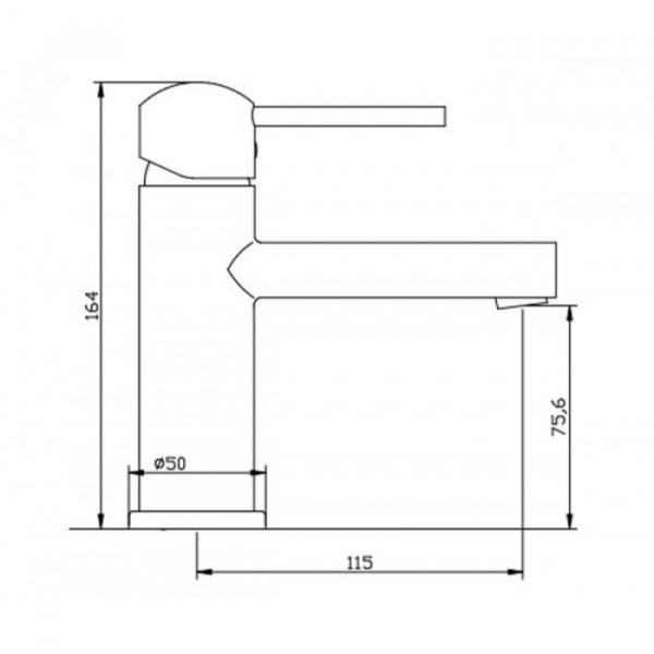 Смеситель для раковины Invena Peroni BU-93-001