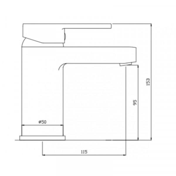 Смеситель для раковины Invena Roland BU-92-001