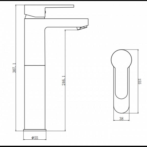 Смеситель для раковины Invena Roland BU-92-W01