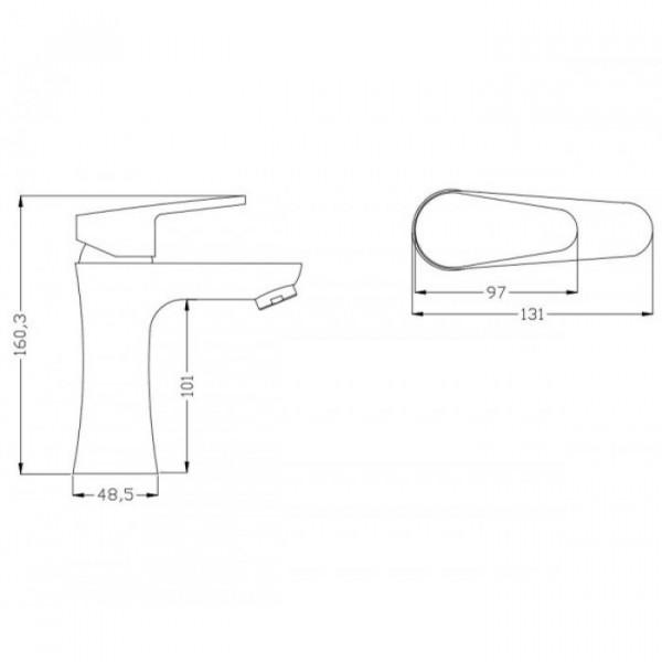 Смеситель для раковины Invena Rotonda BU-73-001
