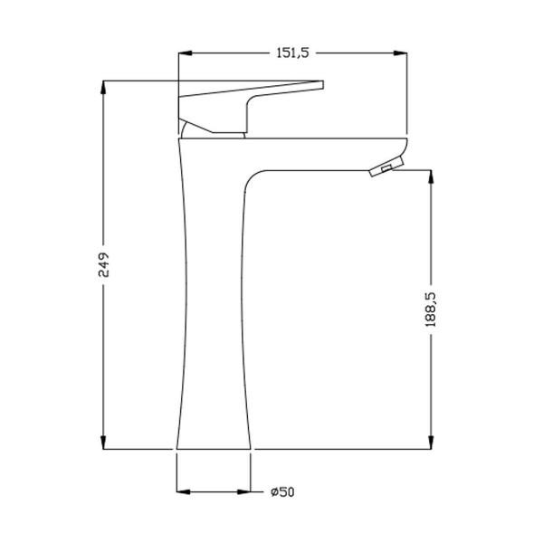 Смеситель для раковины Invena Rotonda Chrom BU-73-W01