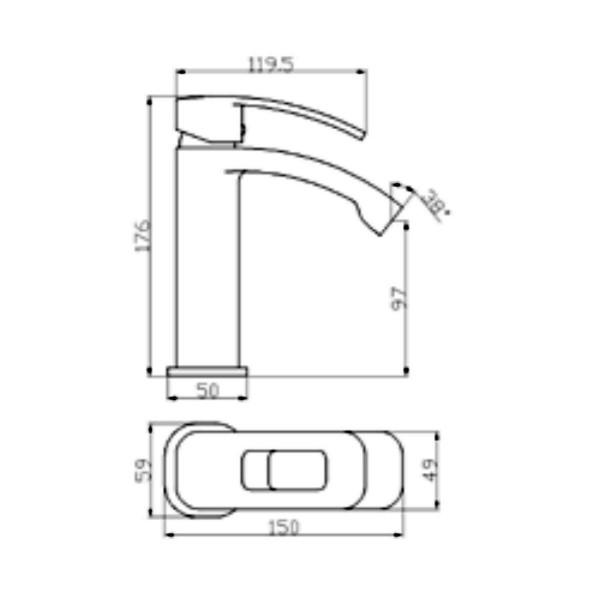 Смеситель для раковины Invena Uniqua BU-77-001