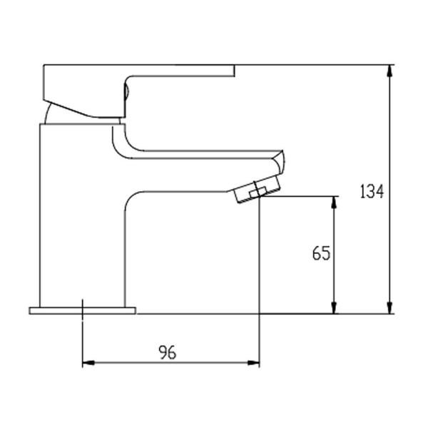 Смеситель для раковины Invena Verso BU-82-001