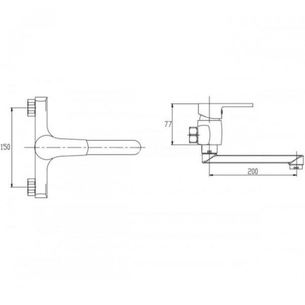 Смеситель для раковины настенный Invena Verso BC-82-001