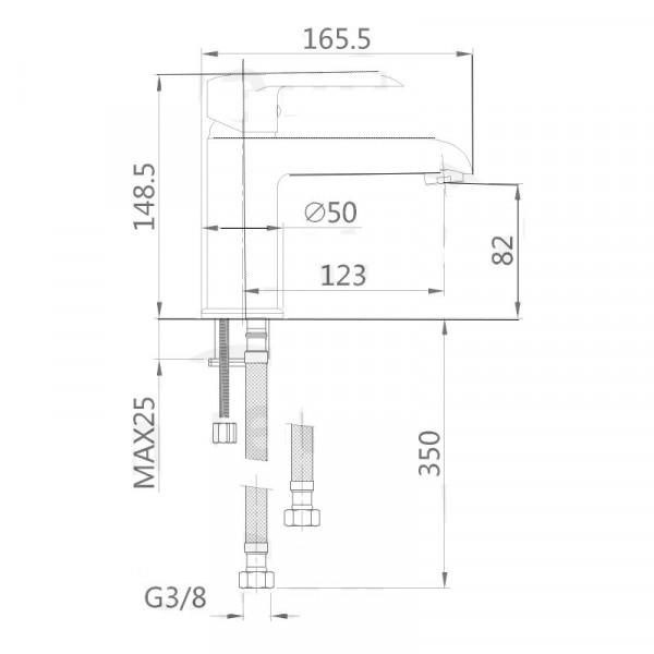 Смеситель для умывальника Invena Siros BU-90-004