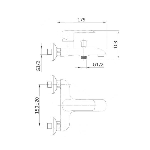 Смеситель для ванны Invena Siros BW-90-004