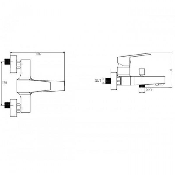 Смеситель для ванны Invena Marmo BW-72-001