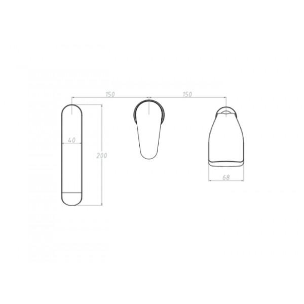 Смеситель для ванны Invena Merida BW-03-S01