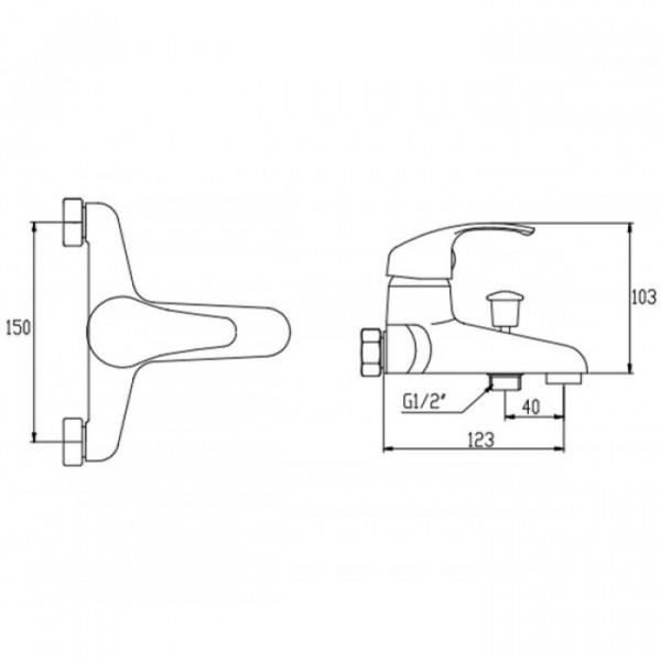 Смеситель для ванны Invena Mitris BW-79-KPL