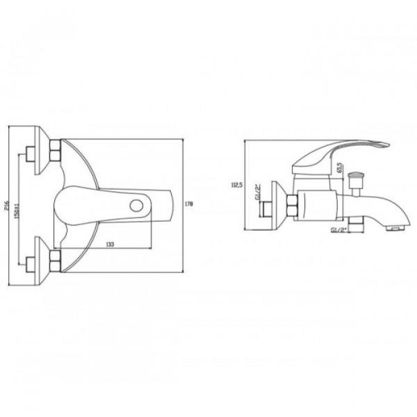 Смеситель для ванны Invena Nea BW-83-001