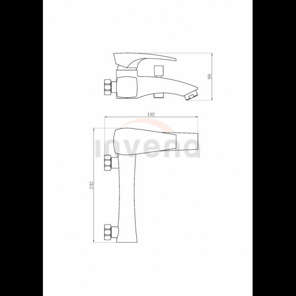 Смеситель для ванны Invena Nikea BW-07-001