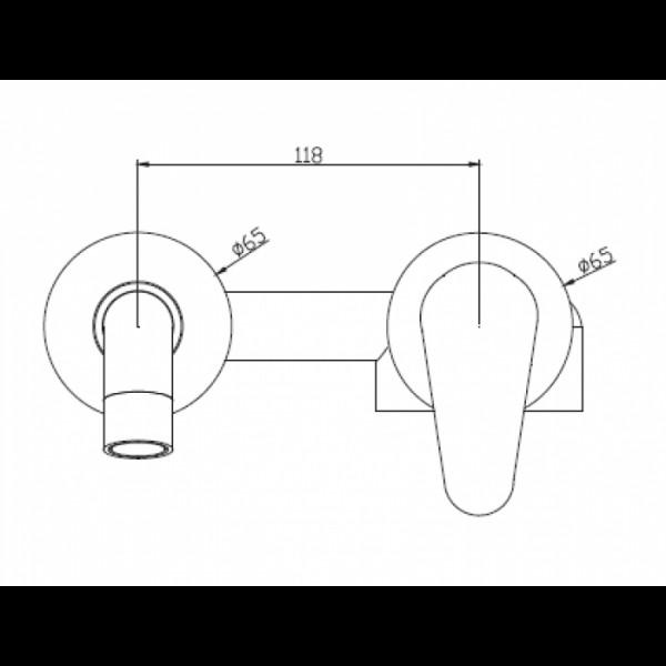 Смеситель скрытого монтажа для раковины Invena Rotonda BP-73-U01