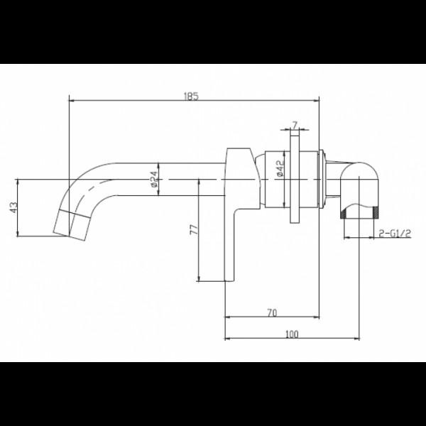Смеситель скрытого монтажа для раковины Invena Verso BP-82-U01