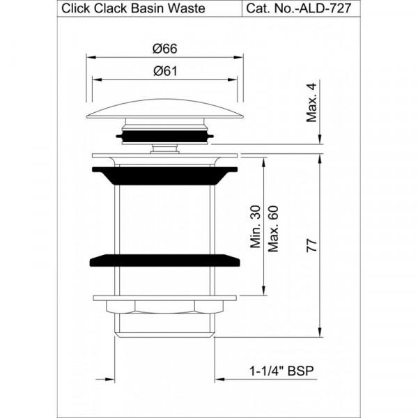 Донный клапан Click-Clack Jaquar ALD-CHR-727