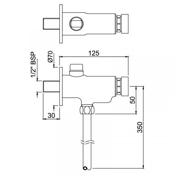 Кран-дозатор для писсуара Jaquar Pressmatic PRS-CHR-077